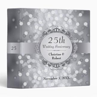 Silver Bokeh 25th Anniversary Binder