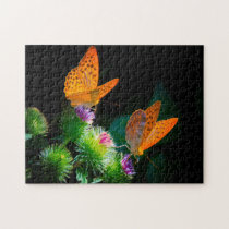 Silver Bordered Fritillary Butterfly. Jigsaw Puzzle