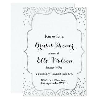 Silver Bridal Shower Invitation