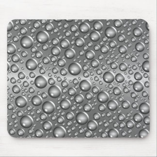 silver brushed balls mouse pad