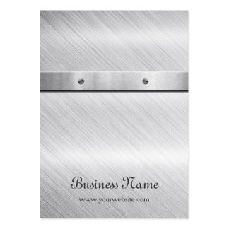 Silver Brushed Metal - Earring Display Card Large Business Cards (Pack Of 100)