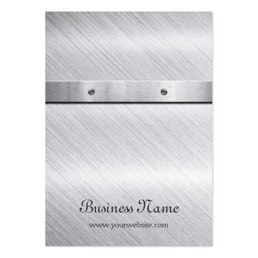Silver Brushed Metal - Earring Display Card Business Cards