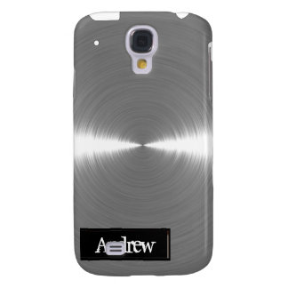 Silver Brushed Metal iPhone3G Samsung Galaxy S4 Cover