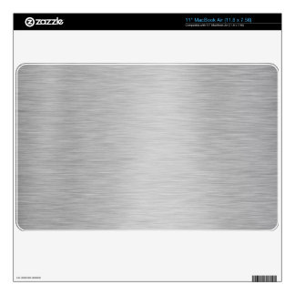 SILVER BRUSHED STEEL PRINTED DECAL FOR THE MacBook