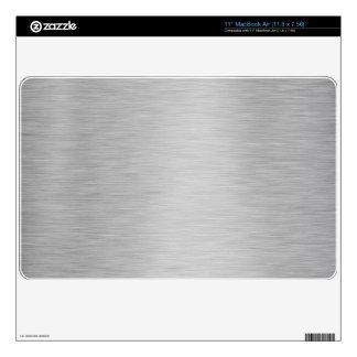 SILVER BRUSHED STEEL PRINTED MacBook AIR DECAL