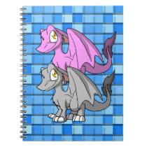Silver/Bubblegum SD Furry Dragon 2 Notebook