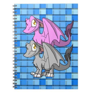 Silver/Bubblegum SD Furry Dragon 2 Spiral Notebook