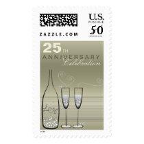 Silver Bubbles Celebration 25th Anniversary Stamps