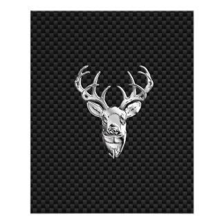 Silver Buck on Carbon Fiber Decor Flyer
