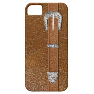 Silver Buckle and Leather iPhone SE/5/5s Case