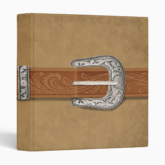 Silver Buckle Tan Suede Binder