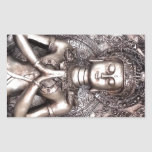Silver Buddha Rectangle Stickers