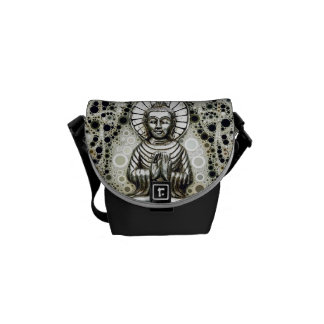 Silver Buddha Small Messenger Bag