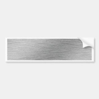 Silver Car Bumper Sticker