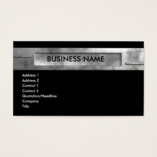 silver business 2 business card