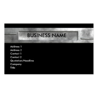 silver business 2 Double-Sided standard business cards (Pack of 100)