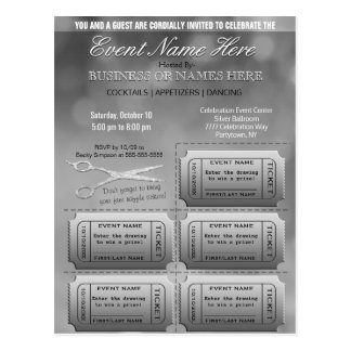Silver Business or Corporate w/Raffle Postcard