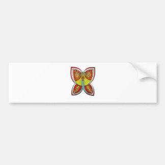 Silver Butterfly angel Bumper Sticker