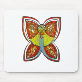 Silver Butterfly angel Mouse Pad