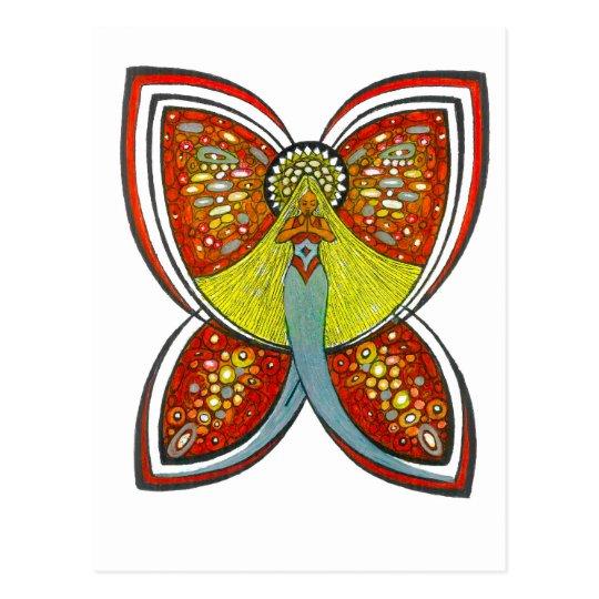 Silver Butterfly angel Postcard