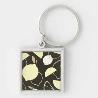 Silver button with Original fruit Keychain