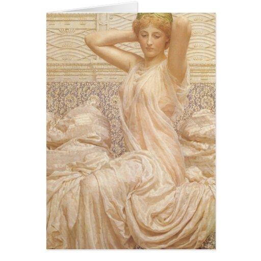Silver by Albert Joseph Moore, Victorian Fine Art Greeting Card