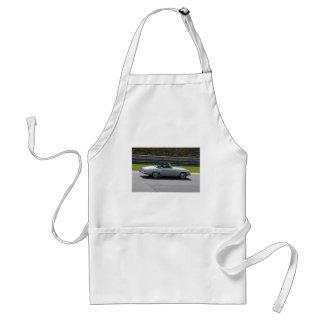 Silver Cabriolet Sportscar Adult Apron