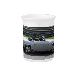 Silver Cabriolet Sportscar Drink Pitcher