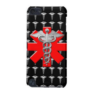 Silver Caduceus And Medical Cross iPod Touch (5th Generation) Cases