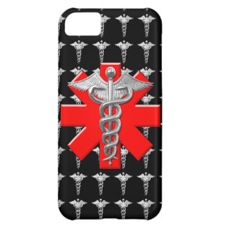 Silver Caduceus And Medical Cross Cover For iPhone 5C