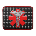 Silver Caduceus And Medical Cross Sleeves For MacBook Air