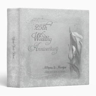 Silver Calla 25 Anniversary - Customize Vinyl Binder