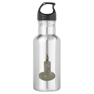 Silver Candle Sparkles Stainless Steel Water Bottle
