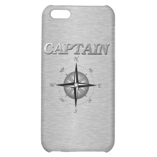 Silver Captain with Compass Rose Case For iPhone 5C