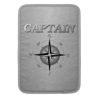 Silver Captain with Compass Rose MacBook Air Sleeve