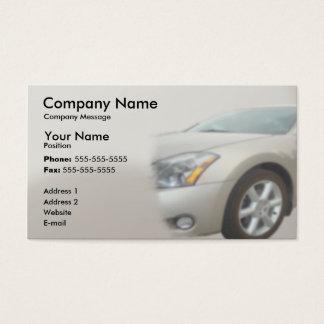 Silver Car Business Card