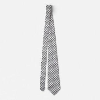 Silver Carbon Fiber Print Neck Tie