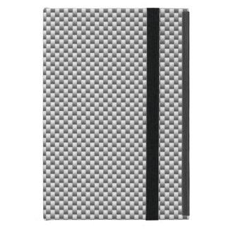 Silver Carbon Fiber Style Decor Print iPad Mini Covers