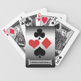 Silver Card Club-Personalize Name Bicycle Playing Cards