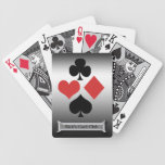Silver Card Club-Personalize Name Playing Cards