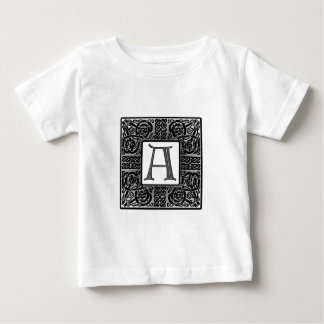 "Silver Celtic ""A"" Monogram Baby T-Shirt"
