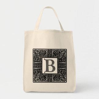 "Silver Celtic ""B"" Monogram Tote Bag"