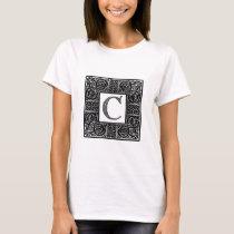 "Silver Celtic ""C"" Monogram T-Shirt"