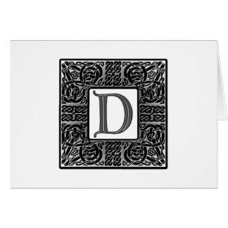 "Silver Celtic ""D"" Monogram Cards"
