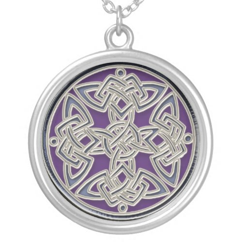 Silver Celtic Dara Knot Necklace