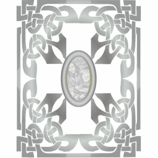 Silver Celtic Design Photo Frame Sculpture