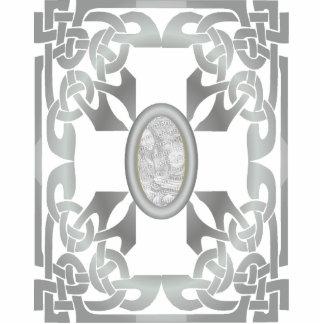 Silver Celtic Design Photo Frame Sculpture Standing Photo Sculpture