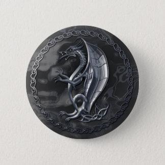 Silver Celtic Dragon Button