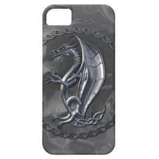 Silver Celtic Dragon iPhone 5 Covers