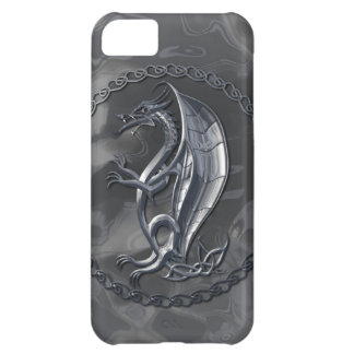 Silver Celtic Dragon Case For iPhone 5C